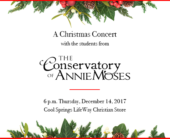 A Christmas Concert with The Conservatory of Annie Moses event image
